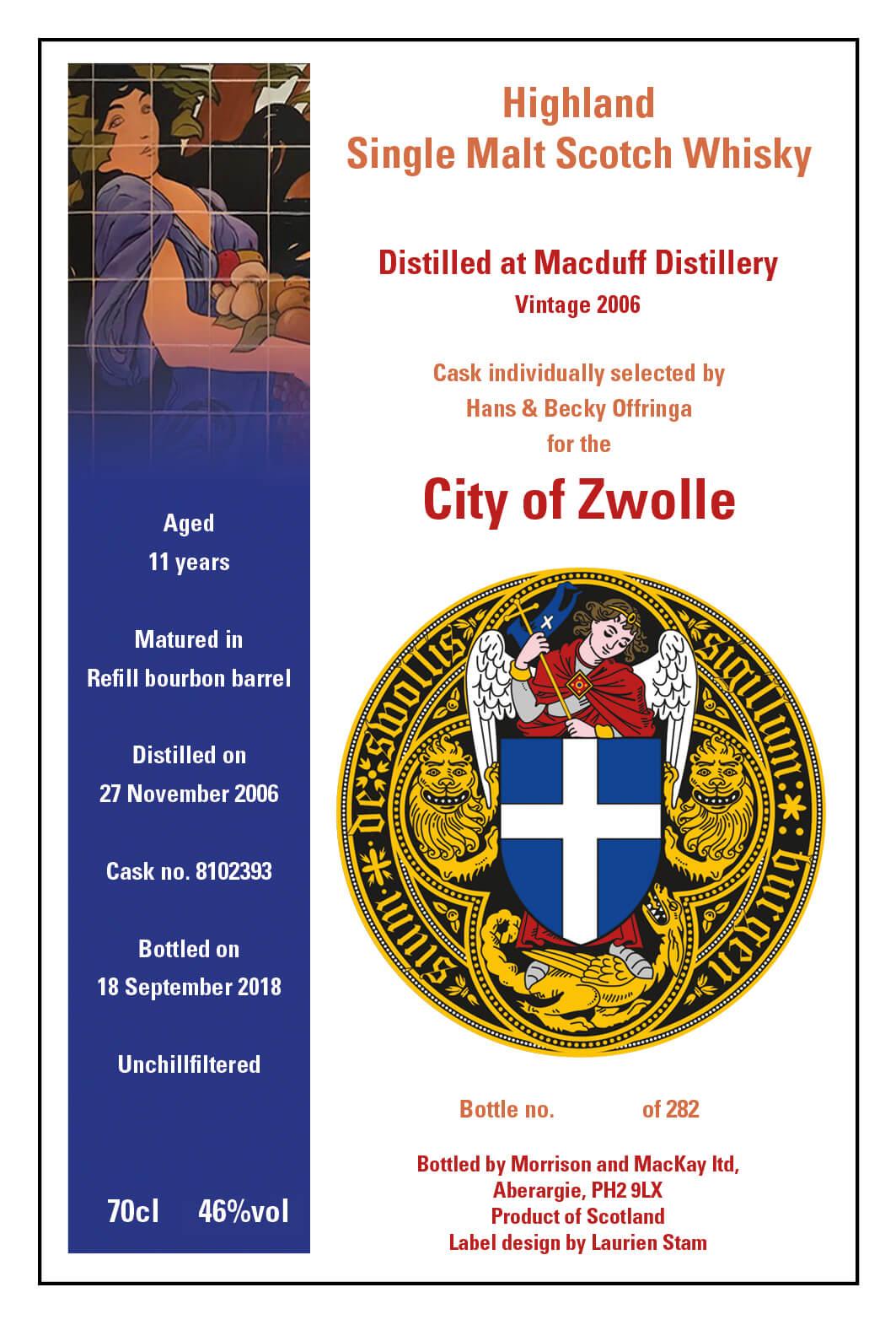 De nieuwe City of Zwolle Whisky